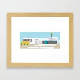mid-century modern house four Framed Art Print