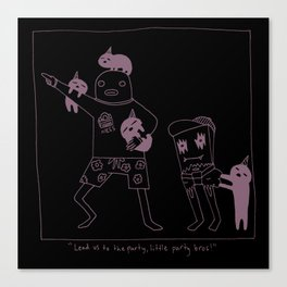 The Origins of Little Party Bros Canvas Print