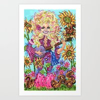 dolly parton Art Prints featuring Dolly Parton. by Eliza Brown Art
