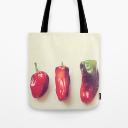 peppers photograph. hot Tote Bag