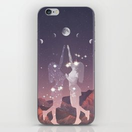 REACHING FOR THE MOON iPhone Skin