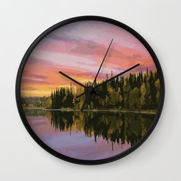 Narrow Hills Provincial Park Wall Clock