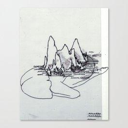 Mountain Girl in the Sea Canvas Print