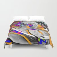 washington Duvet Covers featuring George Washington by Danny Ivan