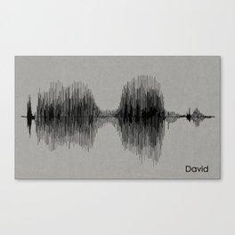 Name Print - David Canvas Print