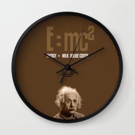 e=mc2, energy, milk, coffee Wall Clock
