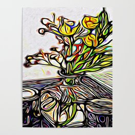 Shadow Flowers Poster