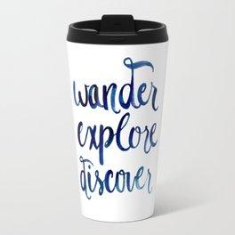 Wander, Explore, Discover Travel Mug