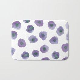 Printed Poppy - in purple Bath Mat