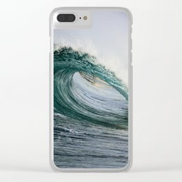 Little Green Barrel / Wedge Waves Clear iPhone Case