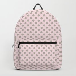 Taupe Polka Dots on Pink Backpack
