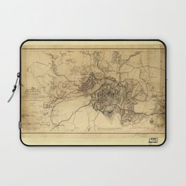 Civil War Map of the Siege of Atlanta, July 19th 1864-August 26th 1864 Laptop Sleeve