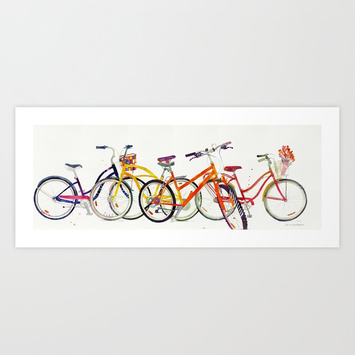 bikes Kunstdrucke