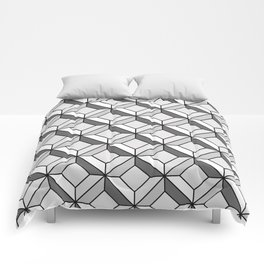 Squares in Gray Comforters