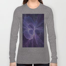 Abstract Art, Purple Fantasy Fractal Long Sleeve T-shirt