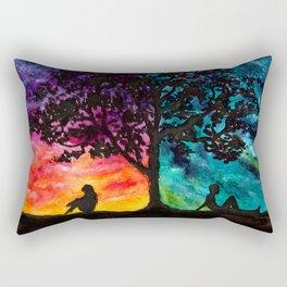 Two Different Worlds Rectangular Pillow
