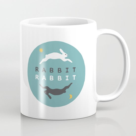 Rabbit Rabbit Day and Night Illustration Mug