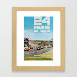 1965 Le Mans poster, Race poster, car poster, garage poster Framed Art Print