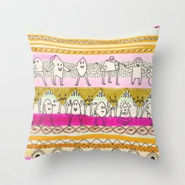 Paralels murs Throw Pillow