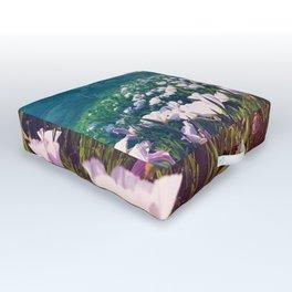 Field of Pink Evening Primrose - Texas Wildflowers Outdoor Floor Cushion
