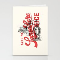 Stationery Cards featuring Take Me Somewhere Nice by CaliDoso