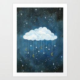 Dreams made of Moon and Stars Art Print