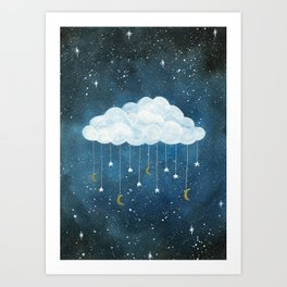 Dreams made of Moon and Stars Art Print