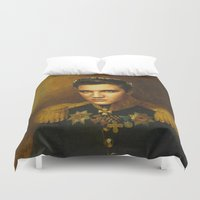 elvis presley Duvet Covers featuring Elvis Presley - replaceface by replaceface