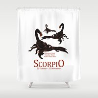 scorpio Shower Curtains featuring Scorpio by Adamzworld