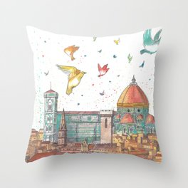 Colors Of Florence Throw Pillow