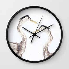 Heron harmony Wall Clock