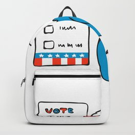 American Eagle Voting Election Ballot Drawing Backpack