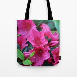 Unwind with a pink rhododendron Tote Bag