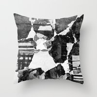 concrete Throw Pillows featuring Concrete by Carli