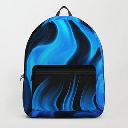 Blue flame art Backpack