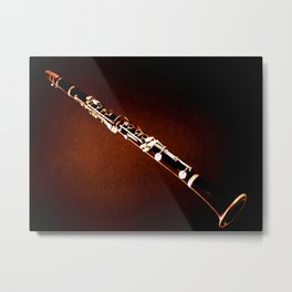 Clarinet Wind Instrument Wall Art Musical Home Decor A069 Metal Print