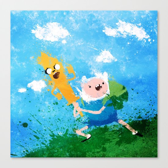 Battle Bros! Canvas Print