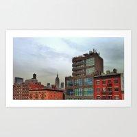 broadway Art Prints featuring Broadway by JM Pilkington