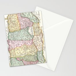 Vintage Map of Israel (1632) Stationery Cards
