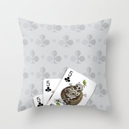 Small but Dangerous / Cards for my arts Throw Pillow