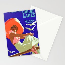 vintage poster Great Lakes Stationery Cards