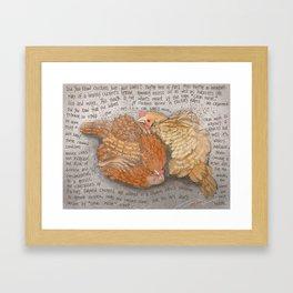 Chickens 2 Framed Art Print