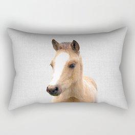 Baby Horse - Colorful Rectangular Pillow