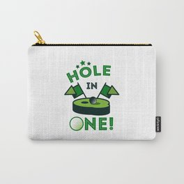 Funny Golf Gift Golfer Golfing Hole In One Carry-All Pouch