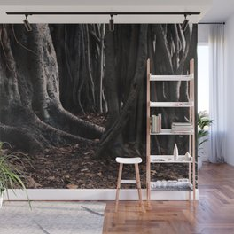 Spooky Winter Trees Wall Mural