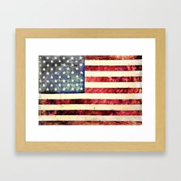Vintage American Flag Framed Art Print