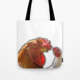 Rooseter and chiken~ happy couple Tote Bag
