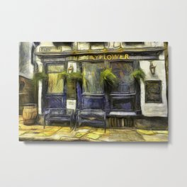 The Mayflower Pub London Van Gogh Metal Print