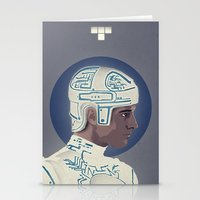 tron Stationery Cards featuring Tron by Perry Misloski