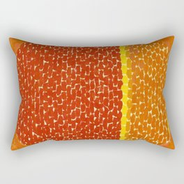 Snoopy sees Earth Wrapped in Sunset African American Masterpiece by Alma Thomas Rectangular Pillow